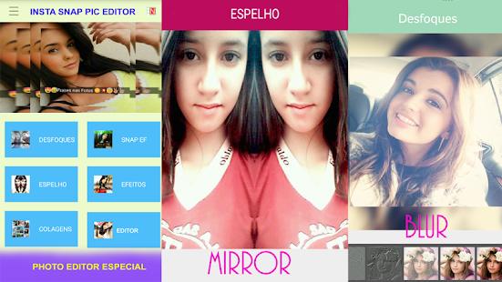 Editor de Fotos com Efeito Snap Texto e Carinhas🌸 Screenshot