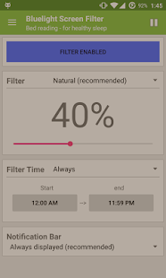 Bluelight Screen Filter Pro Screenshot