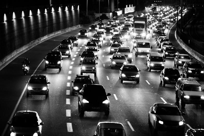 Photo: traffic@night Ayalon highway