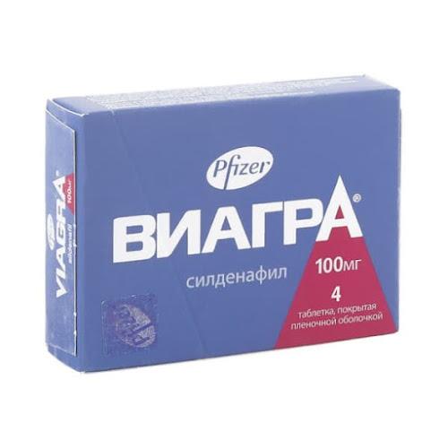 Виагра таб. п/о плён. 100мг №4