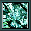 papéis de parede broken glass icon