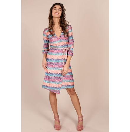 Joline Wrap Knit Dress Pink - Pernilla Wahlgren