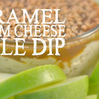 Caramel Cream Cheese Apple Dip.