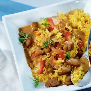 Paprika-Reisfleisch