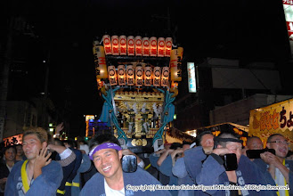Photo: 【平成20年(2008) 本宮】  夜間渡御も気合満点。