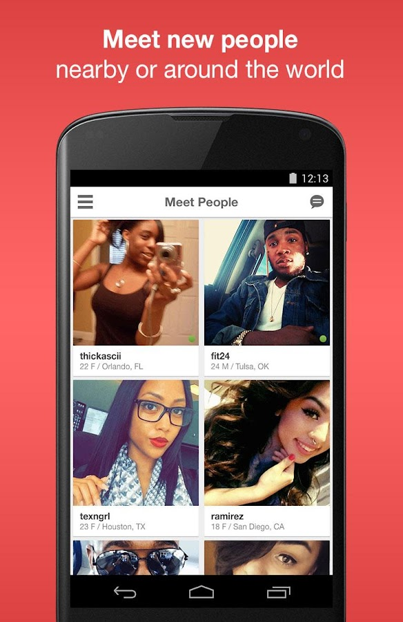 Screenshots of Moco - Chat, Meet People for iPhone