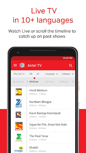 Airtel TV: Movies, TV series, Live TV 1.5.5.4 screenshots 4