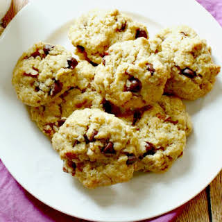 Chocolate Chip Pecan Oatmeal Cookie.