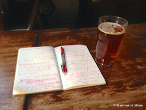 """Photo: I saddled up for a few pints while revising my """"paper""""; in other words: """"work""""."""