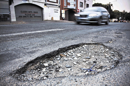 Potholes. File picture