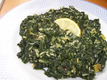 "Greek Spinach & Rice ""Spanakorizo"""