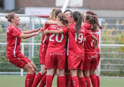 Wat gebeurde er in eerste nationale van het vrouwenvoetbal?