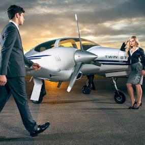 BusinessTrip by Braxton Wilhelmsen - Professional People Business People ( airport, fashion, retouching, utah, sunset, airplane, advertising, business, photoshop, braxton wilhelmsen,  )