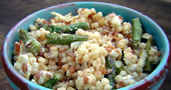Meyer Lemon Pasta Salad with Asparagus, Almonds and Goat Cheese Recipe