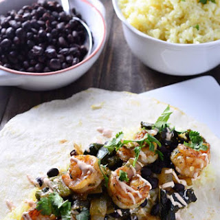 Shrimp & Roasted Poblano Burrito.