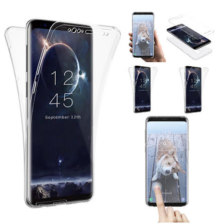 Samsung Galaxy S9+ Dubbelsidigt silikonfodral med TOUCHFUNKTION