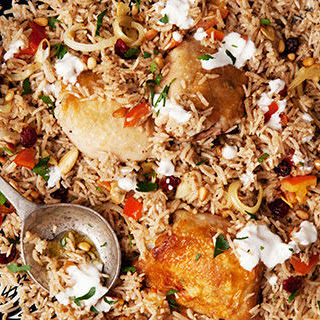 Turkish Baked Rice with Chicken and Almonds Recipe
