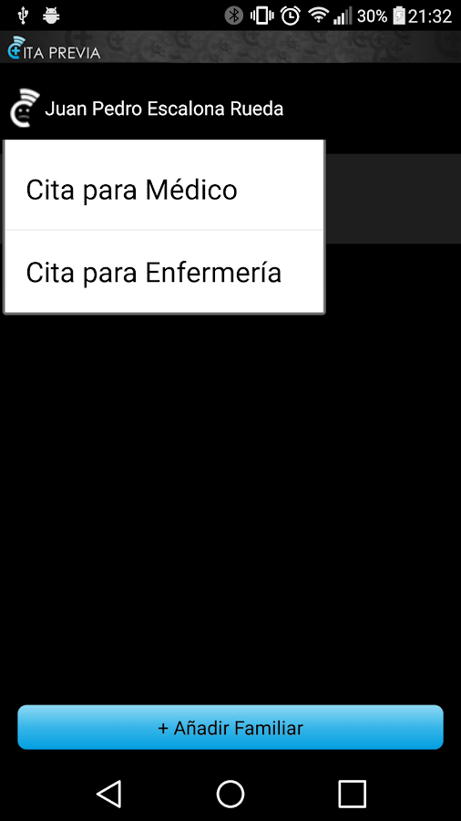 Cita Previa InterSAS- screenshot