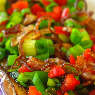 Pan Fried Eggplant With Sweet Soy Sauce.