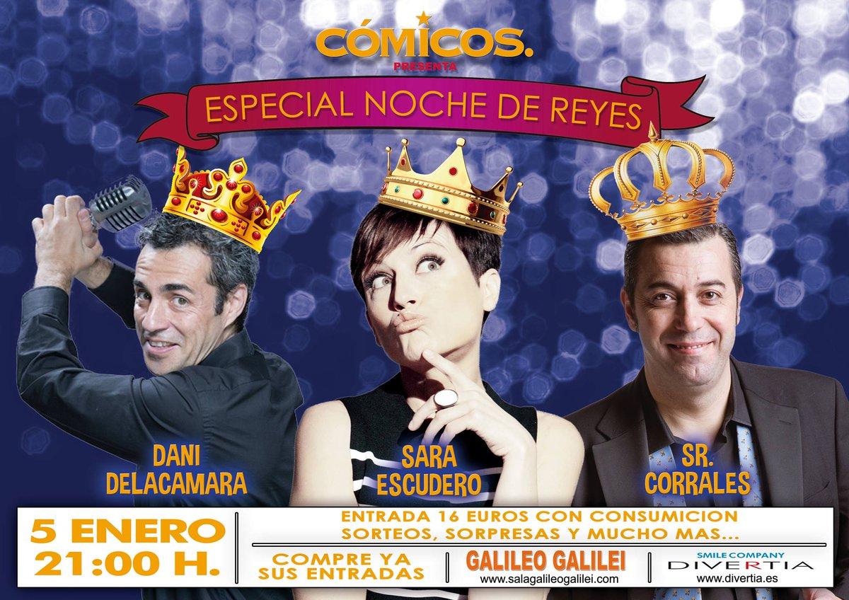 cartel-noche-de-comicos-2017-dani-de-la-camara-sara-escudero-señor-corrales