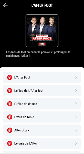 RMC ud83cudf99ufe0fInfo et Foot en direct - Radio & Podcast 4.1.0 screenshots 6