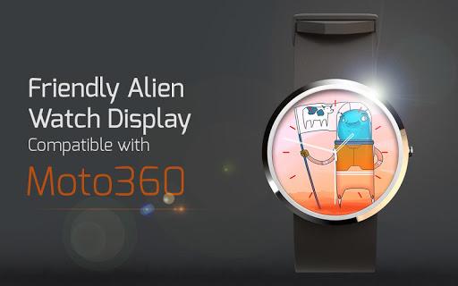 Friendly Alien Watch Display