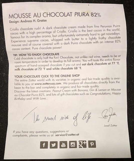 Chocolate Mousse Zotter Bar