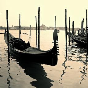 Gondola by Cristiana Chivarria - Transportation Boats ( gondola, venice, italy )