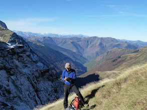 Photo: Francis fait le point ....................sur le fonctionnement du GPS
