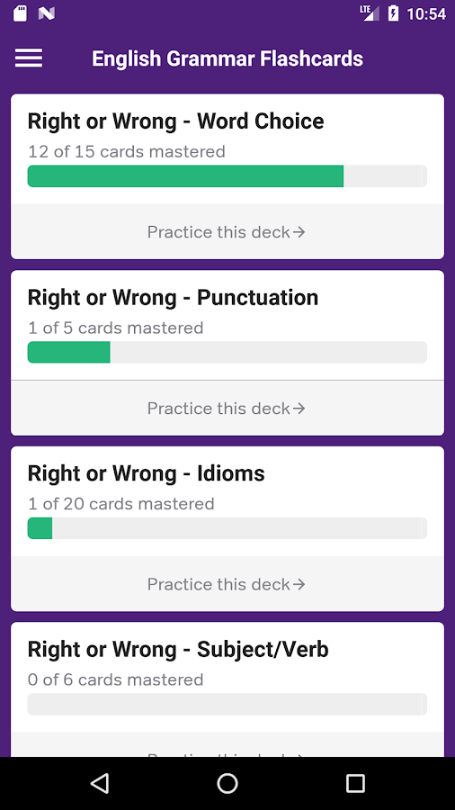 English Grammar Practice- screenshot