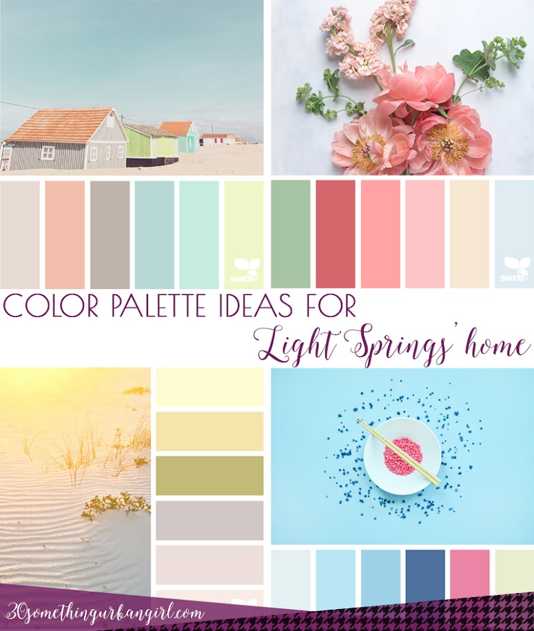 Color palette home decor ideas for Light Spring women's home