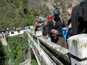 Photo: The bridge in no-mans-land between Nepal (Kodari) and China (Zangmu)