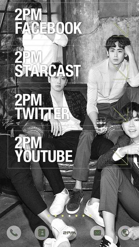 Скриншот 2PM NO.5 LINE Launcher theme