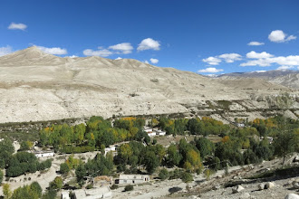 Photo: Panorama au N de Lo Manthang (fort Ame Pal)