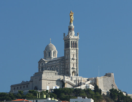 The Basilica of Notre Dame de la Garde in Marseille, France, which opened in 1864.