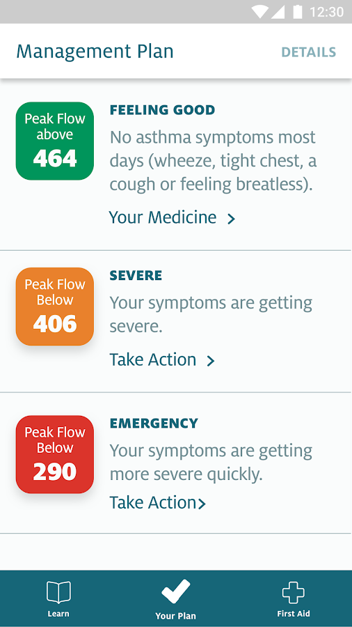 My Asthma App- screenshot