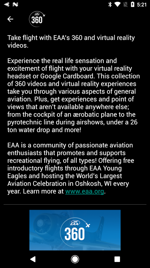 EAA 360- screenshot