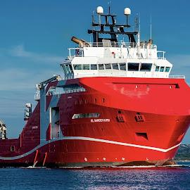 KL Sandefjord by Lars Even Sangolt - Transportation Boats ( oil, ship, supply, sea, offshore )