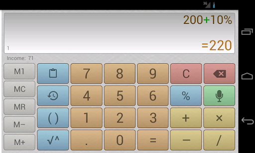 Multi-Screen Voice Calculator Pro app for Android screenshot