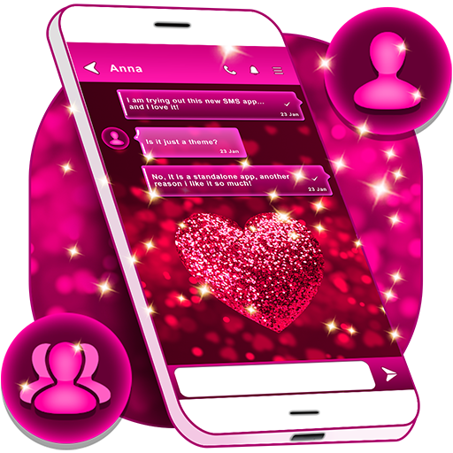 Glitter Love Sms Themes Apps On Google Play