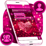 Glitter Love SMS Themes