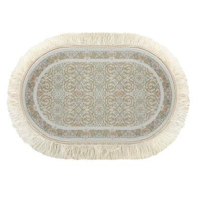 Ковёр 0.50х0.80 исфахан 2004 блю овал Ковровые галереи