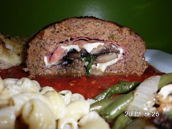 Cheese Stuffed Italian Meatloaf Recipe