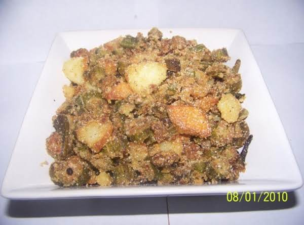 Oven Fried Okra And Potatoes