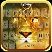 Wild Golden Lion Keyboard Theme