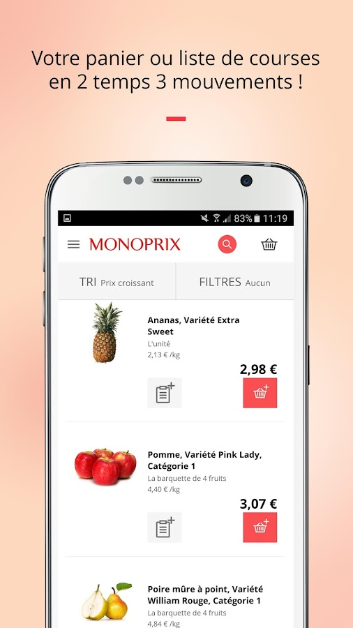 Monoprix- screenshot