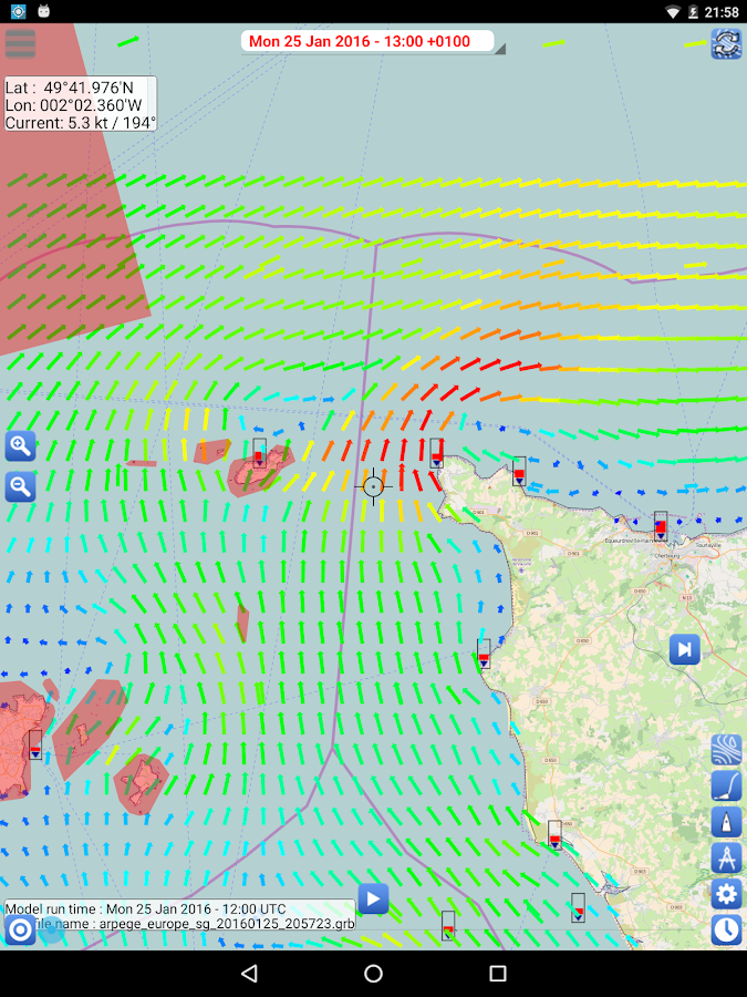 Weather - Routing - Navigation- screenshot