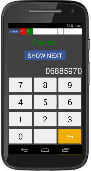 MemZee Number Memory Game- screenshot