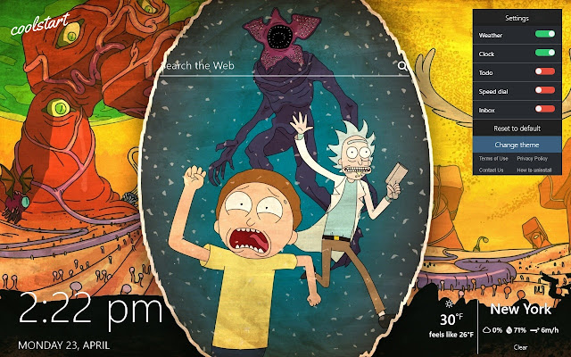 rick and morty hd wallpapers cartoon theme chrome web store