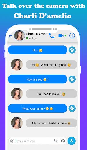 fake call Charli D'amelio  live chat video _prank screenshot 3